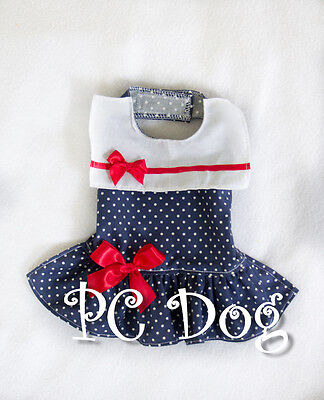 M Drop Waist Sailor Girl Dog dress clothes pet apparel Clothing Medium PC Dog®
