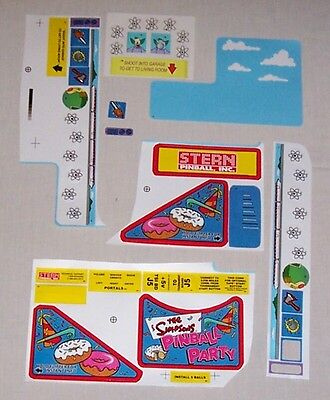 The Simpsons Pinball Party Pinball Machine Playfield Decal Set 802-5000-77 NOS!