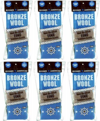 (6) Homax 123100 3 pack Fine Bronze Wool Pads