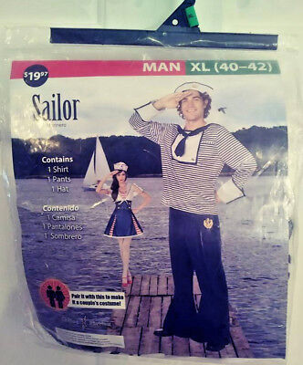 SAILOR HALLOWEEN COSTUME BY LIVING FICTION MAN XL (40-42) FREE SHIPPING NEW!](Sailor Halloween Costume Man)