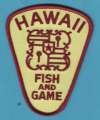 HAWAII FISH AND GAME SHOULDER PATCH