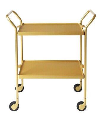 Kaymet Classic Design Tea Trolley H65 x D35.5cm - Gold (Missing Screws) A