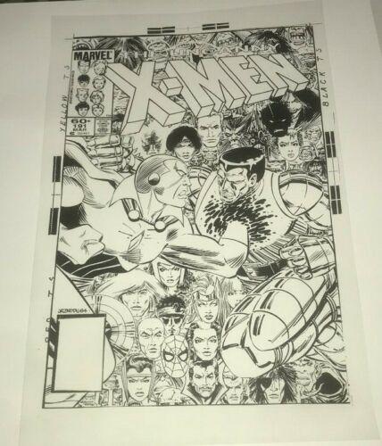 The Avengers Vision Uncanny X-Men Colossus Cover Production Art Acetate Rare