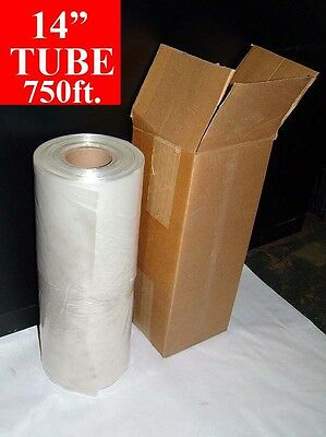 14 X 750 Long Poly Tube Roll 2mil Tubing 3 Core