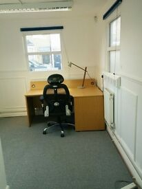 Self contained 2/3 desk office in studio with use of workshop available