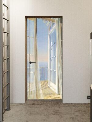 Faux Window Wall - 3D Fake Window Balcony Scenery Self-Adhesive Bedroom Door Murals Wall Stickers