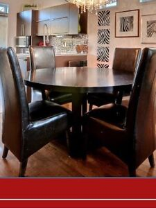 Table 6 chaises 300$