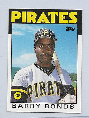 1986 Topps Xrc Traded  11T  11 Barry Bonds Rookie Card Rc Mint