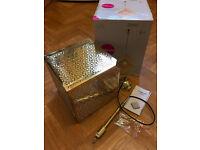 Beautiful bohemian/ glamorous gold pendant light fitting/ lamp shade