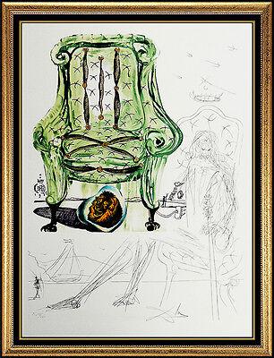 Salvador Dali Authentic Original Hand Signed Artwork Rare Lithograph Drawing SBO