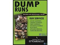 DUMP RUNS, RUBBISH COLLECTION, WASTE REMOVAL, MAN WITH VAN