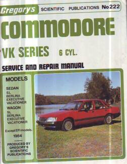 HOLDEN COMMODORE VK 6CYL  WORKSHOP SERVICE REPAIR  MANUAL 1984 ON Sefton Bankstown Area Preview