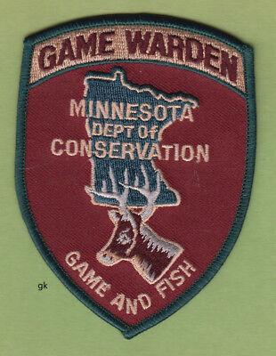 MINNESOTA GAME WARDEN  GAME & FISH  DEPT. OF CONSERVATION POLICE SHOULDER PATCH