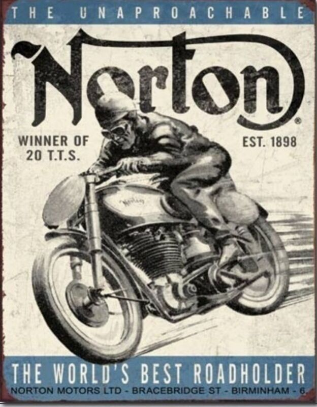 NORTON Winner Metal Tin Sign Motorcycle Home Bar Garage Shop Wall Decor  #1706