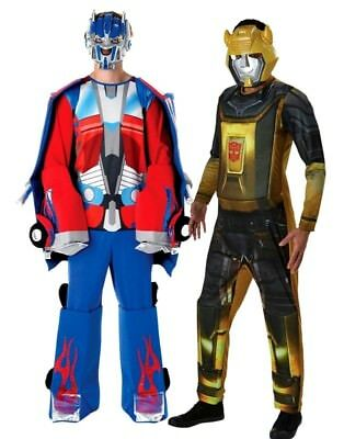 Adult Official TRANSFORMERS Fancy Dress Costumes Optimus Prime Bumblebee Deluxe