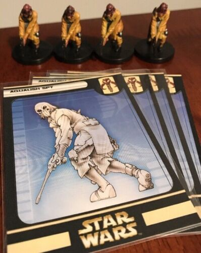 Huge Lot of 4 Aqualish Spy Star Wars Miniatures 49/60 Game Figures
