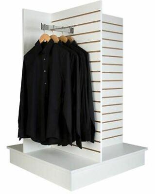 4-way Slatwall Display Merchandiser White- Melamine Finish- Knock Down- Sm-4ww
