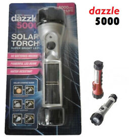 joblot 40x DAZZLE 5000 Super Bright LED Solar Torch wholesale clearance stock