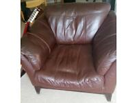 Comfortable Large Leather Armchair