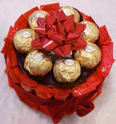 Mother's Day Birthday Gift Basket Floating Candles Ferrero Rocher Chocolates