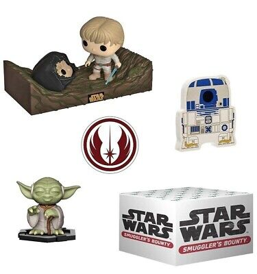 Star Wars Funko POP #284 Dagobah Face Off Movie Moments Smugglers Bounty Box!