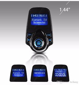 Bluetooth in-car transmitter charger handsfree calls! Sd card,aux(can be linked with your mobile)