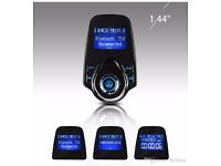 Bluetooth in-car transmitter storage unit and charger(can be linked with your mobile)