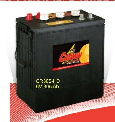 Crown Battery Cr305-hd 6v 305 Ah. Flooded Bci 902 Deep Cycle Solar Marine Each