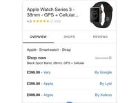 Apple iwatch 38mm space grey