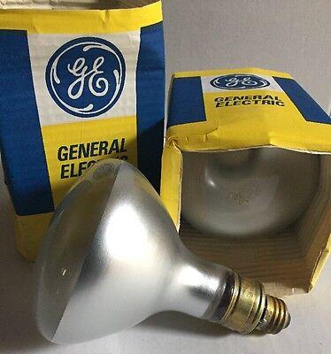 Lot Of 2 GE Lighting 375W, R40 Incandescent Reflector Light Bulb, - 375w Light Bulb