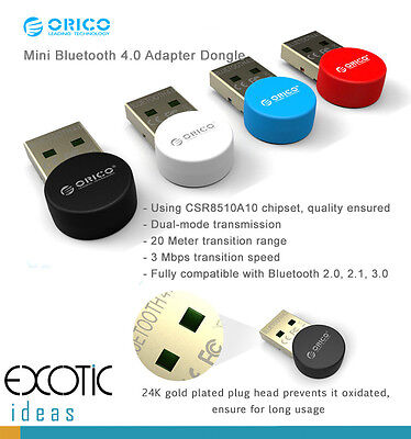 Orico Mini Bluetooth 4.0 Adapter Dongle w CSR8510A10 chipset