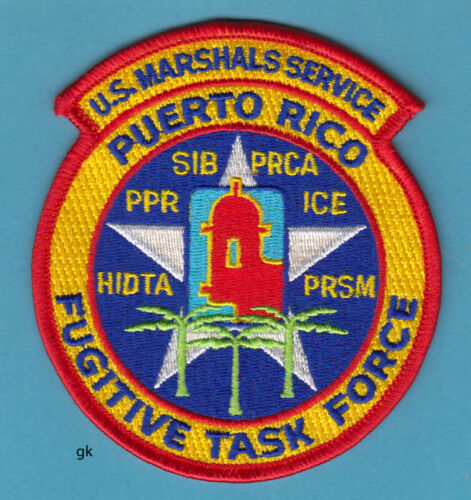 US  MARSHAL SERVICE PUERTO RICO FUGITIVE TASK FORCE MULTI-AGENCY POLICE PATCH