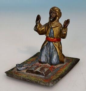 jugendstil fliegender teppich betender araber i a der wiener bronze. Black Bedroom Furniture Sets. Home Design Ideas