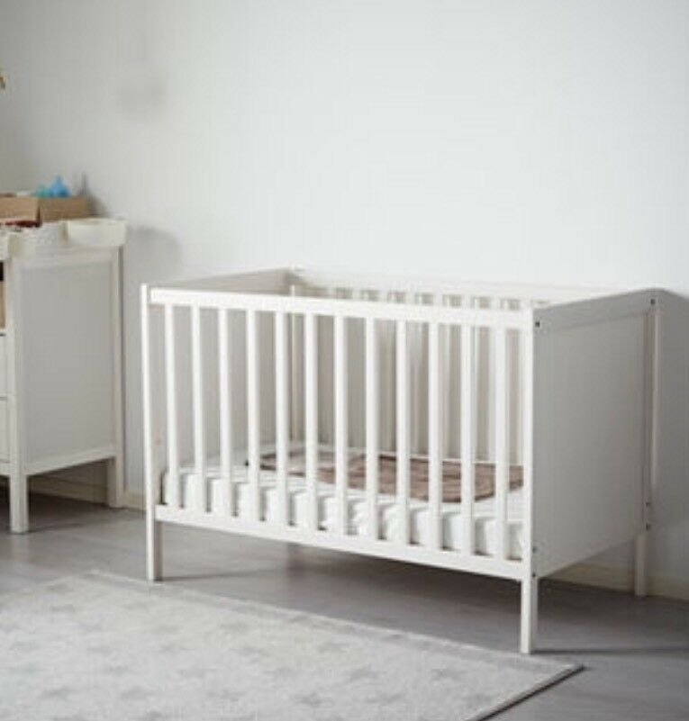 Ikea cot bed & mattress