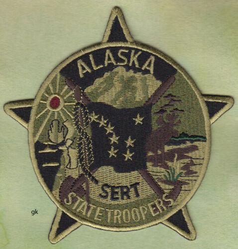ALASKA STATE TROOPER SWAT SERT  POLICE SHOULDER PATCH  (Subdued)