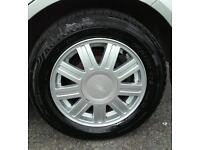 Set Of 4 Alloy Wheels With Good tyres