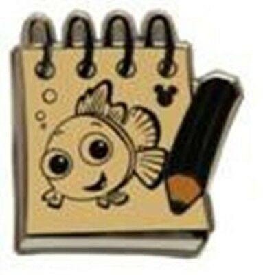 NEMO CHASER Black SKETCH PADS Finding Nemo 2014 Hidden Mickey Disney Pin 99902
