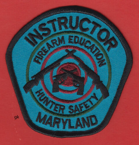 MARYLAND HUNTER SAFETY FIREARM EDUCATION INSTRUCTOR  SHOULDER PATCH