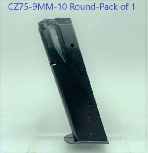 IWI CZ 75/85/SP-01 9mm 10 Round RD Blued Steel Magazine/Mag/Clip Baby Eagle
