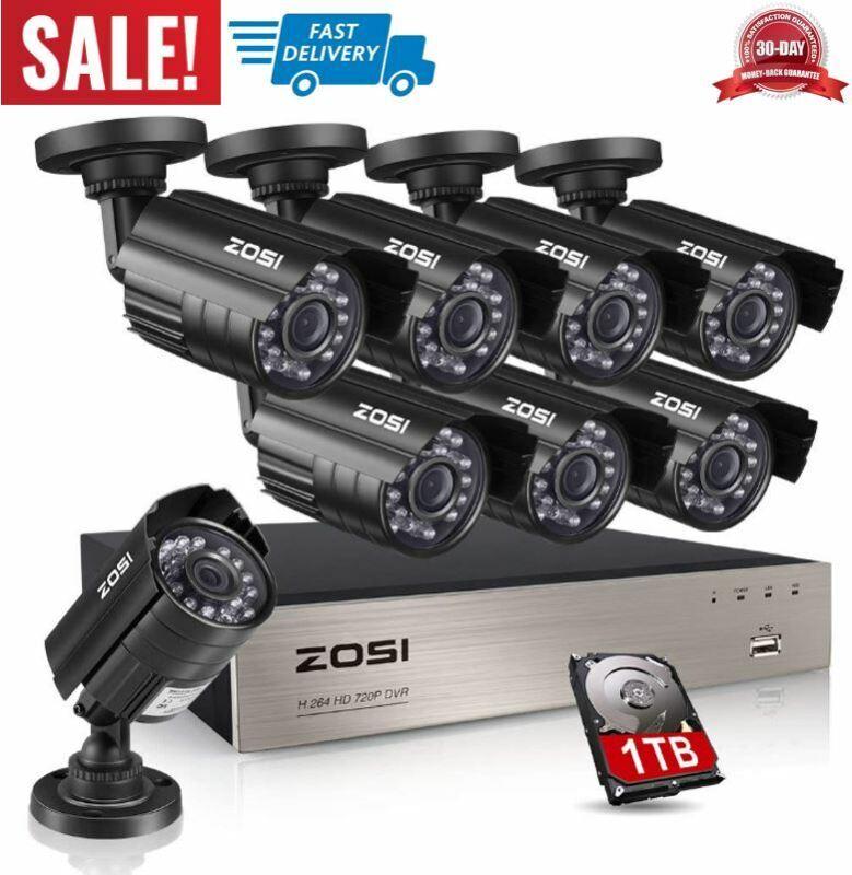 camaras de vigilancia grabador video 8 canales DVR sistema s