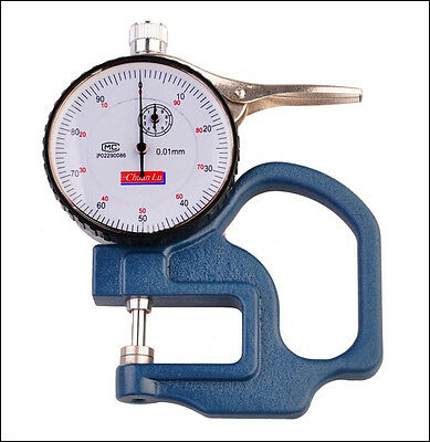 Dial Thickness Gauge 0.01mm Tester Meter Paper Film Leather Measuring Tool Usa