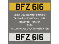 BFZ 616 – Price Includes DVLA Fees – Cherished Personal Private Registration Number Plate