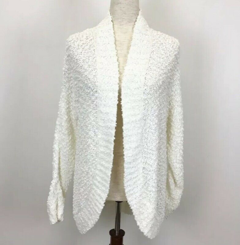 Motherhood Maternity Small Sweater White Cardigan Ivory Open Front
