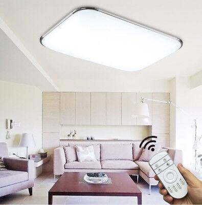 Rechteckige Leuchte (Rechteckig LED Deckenleuchte Deckenlampe Ultraslim Wohnzimmer Dimmbar 6502)