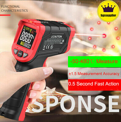 Us Temperature Gun Non-contact Digital Laser Infrared Ir Thermometer Temp Meter