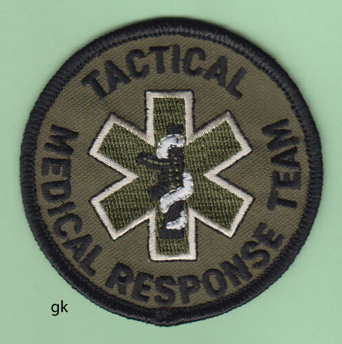 """TACTICAL  MEDICAL RESPONSE TEAM SHOULDER PATCH  (Subdued - Green)  3"""""""
