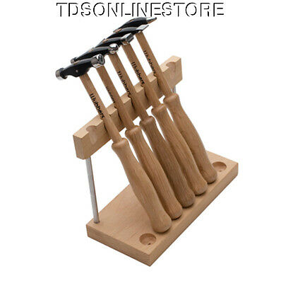 Set Of 5 Artisan's Mark Texturing - Forming Hammers By Wubbers W Stand