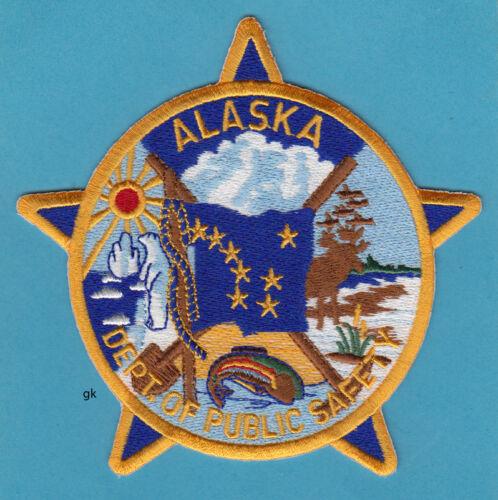 ALASKA  DEPT OF PUBLIC SAFETY  POLICE  TROOPERS  FLAG SHOULDER  PATCH