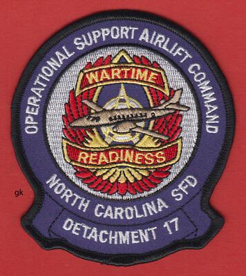 NORTH CAROLINA  DET 17  AIRLIFT ARMY AIR FORCE NATIONAL GUARD POLICE PATCH Army Air Force National Guard