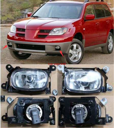 For Mitsubishi Outlander 2003-2006 A pair Front Left /& Right Fog Lights Lamp
